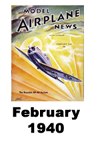 Model Airplane news cover for February of 1940