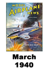 Model Airplane news cover for March of 1940