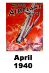 Model Airplane news cover for April of 1940