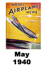 Model Airplane news cover for May of 1940