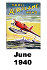Model Airplane news cover for June of 1940