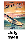 Model Airplane news cover for July of 1940