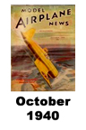 Model Airplane news cover for November of 1940