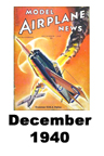 Model Airplane news cover for December of 1940