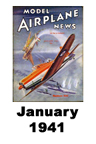 Model Airplane news cover for January of 1941