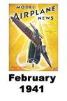 Model Airplane news cover for February of 1941