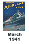 Model Airplane news cover for March of 1941