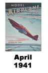 Model Airplane news cover for April of 1941