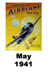 Model Airplane news cover for May of 1941