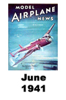 Model Airplane news cover for June of 1941