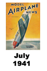 Model Airplane news cover for July of 1941