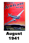 Model Airplane news cover for August of 1941