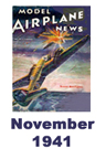 Model Airplane news cover for November of 1941