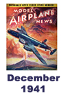Model Airplane news cover for December of 1941