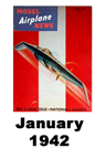 Model Airplane news cover for January of 1942