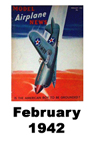 Model Airplane news cover for February of 1942
