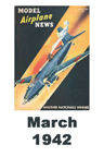 Model Airplane news cover for March of 1942