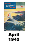 Model Airplane news cover for April of 1942