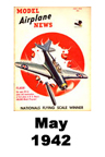 Model Airplane news cover for May of 1942