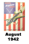 Model Airplane news cover for August of 1942
