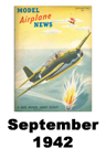 Model Airplane news cover for September of 1942