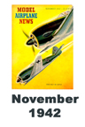 Model Airplane news cover for November of 1942
