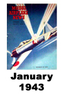 Model Airplane news cover for January of 1943