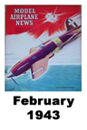 Model Airplane news cover for February of 1943