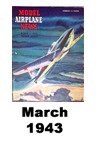 Model Airplane news cover for March of 1943