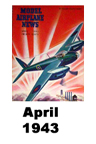 Model Airplane news cover for April of 1943
