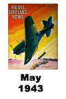 Model Airplane news cover for May of 1943