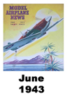 Model Airplane news cover for Jun of 1943