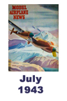 Model Airplane news cover for July of 1943