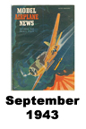 Model Airplane news cover for September of 1943