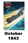 Model Airplane news cover for October of 1943