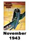 Model Airplane news cover for November of 1943