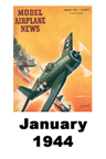 Model Airplane news cover for January of 1944