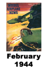 Model Airplane news cover for February of 1944