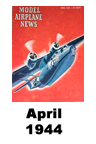 Model Airplane news cover for April of 1944