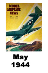 Model Airplane news cover for May of 1944