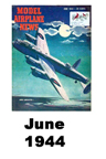 Model Airplane news cover for June of 1944