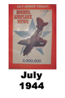 Model Airplane news cover for July of 1944