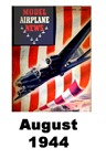 Model Airplane news cover for August of 1944