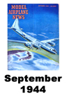 Model Airplane news cover for September of 1944