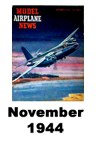 Model Airplane news cover for October of 1944
