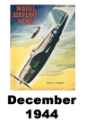 Model Airplane news cover for December of 1944