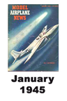 Model Airplane news cover for January of 1945
