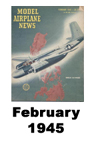 Model Airplane news cover for February of 1945