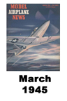 Model Airplane news cover for March of 1945