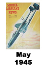 Model Airplane news cover for May of 1945